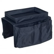 SmartWorks Consumer Products Trademark 6 Pocket Arm Rest Organizer with Table-Top, Black