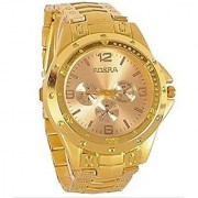 NEW Rosra Full Gold Stylish Wrist Watch for Men 6 MONTH WARRANTY