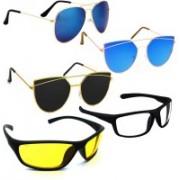 Vitoria Aviator, Butterfly, Wrap-around Sunglasses(Multicolor)