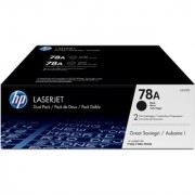 HP 78A 2-pack Black Original LaserJet Toner Cartridges CE278AF