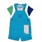 Set bebe, salopeta cu imprimeu/tricou colorat, Mayoral 6-9luni