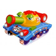 Toyshine Musical Crazy Tank Toy with Bump and Go Action, 3D Lights, Music