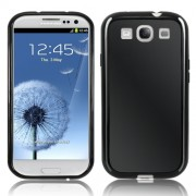Samsung I9300 Galaxy S III Силиконов Калъф Черен + Протектор