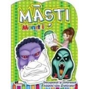 Masti - Monstri. Decupeaza si coloreaza mastile tale preferate
