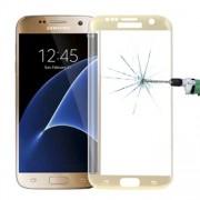 Tempererat glas Samsung Galaxy S7 Edge - Böjt, i Guldfärg