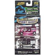 Johnny Lightning - Frightning Lightnings - Episode 2 - Surf Hearse Replica (Metallic Red/Pink Color