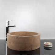 Chiuveta baie travertin Latte RS-22, 41,5 x 15 cm