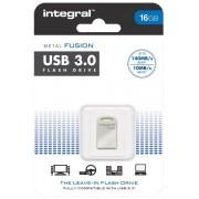 INTEGRAL stick USB flash 16GB Fusion USB3.0 gri-metalizat