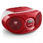 CD радиокасетофон Philips AZ215R, CD, FM, 3W (RMS)