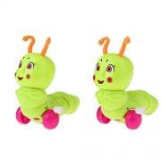 Unknown Magideal 2 Pieces Children Wind Up Clockwork Toy Cartoon Figure Kids Play Caterpillar Random Colour