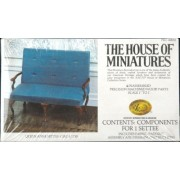 The House Of Miniatures Queen Anne Settee / Circa 1730 No. 40055