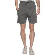 Vimal-Jonney Dark Gray Cotton Blended Shorts For Men