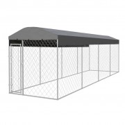 vidaXL Outdoor Dog Kennel with Roof 800x200 cm