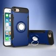 Apple För iPhone 8/7 4,7 tum 2-i-1 magnetring TPU PC Hybrid Case med Kickstand