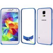 NTR MPSF01BL Alumínium védő keret (BUMPER) Samsung Galaxy S5 G900 mobiltelefonhoz - kék