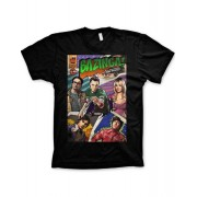 The Big Bang Theory Comic Cover - Svart Unisex T-shirt