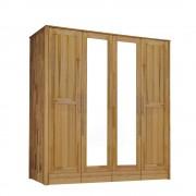 Drehtüren-Schrank mit 4 Türen Kernbuche