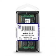 Kingston kvr16ls11 geheugen (1600mhz, fbga) DDR3-RAM 8gb