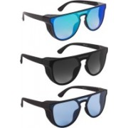 Bryan Adams Over-sized Sunglasses(Grey, Blue, Green)