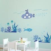 Autocolant perete Ocean Underwater World, 110cm H x 165cm W