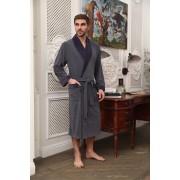 Five Wien Благородный халат из велюровой ткани с меланжем Five Wien FW1473 Аметист