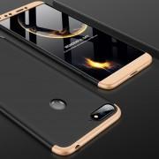 GKK Empalme Tres Etapa Plena Cobertura PC Case Para Huawei Honor 7a / Y6 (2018) (negro + Oro)