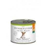Mancare umeda Bio pentru cainii sensibili, cu pui si morcov, 410g, Defu