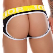 Jor FOX Side Stripe Mesh Jock Brief Jock Strap Underwear Black 0968