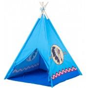 Cort de Joaca pentru Copii tip Casuta Indian, Exterior sau Interior, Culoare Albastru