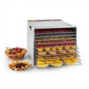 Klarstein Fruit Jerky Steel 10, сушилня за плодове, 1000 W, сушилня, 10 етажа, от неръждаема стомана (KG3-Fruit-JerkyPro10)
