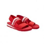 Love Moschino Elastik-Sandale, 38 - Rot