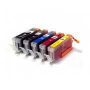 Set 5 cartuse Canon PGI-550BK XL, CLI-551BK XL, CLI-551C XL, CLI-551M XL, CLI-551Y XL compatibile