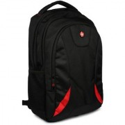 HP 17.3 inch Laptop Backpack (Black Red).