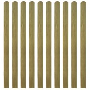 vidaXL Scândură de gard din lemn tratat, 10 buc, 140 cm