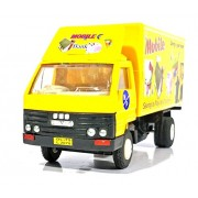 Jack Royal Mobile Back Van Vehicle Toy With Pull Back Action (Yellow)
