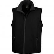 Result Mouwloze softshell sport vesten zwart voor heren