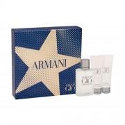Giorgio Armani Acqua di Giò Pour Homme set cadou EDT 100 ml + Balsam dupa barbierit 75 ml + Gel de dus 75 ml pentru bărbați