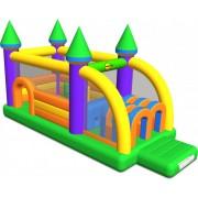 Saltea gonflabila profesionala Happy Hop Castel cu obstacole