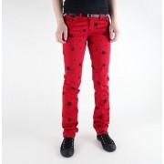 pantalon pour femmes 3RDAND56th - Étoile Skinny Jeans - JM1097 - RED