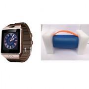 Zemini DZ09 Smart Watch and Mini Xtreme K5 + Bluetooth Speaker for LG OPTIMUS L5 II(DZ09 Smart Watch With 4G Sim Card Memory Card| Mini Xtreme K5 + Bluetooth Speaker)