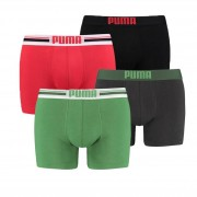 Puma Placed Logo 4-pack Groen/Rood-S