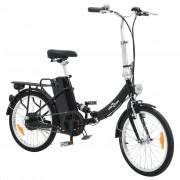 vidaXL Bicicletă electrică pliabilă cu baterie Li-ion, aliaj din aluminiu