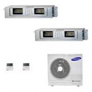Samsung Condizionatore Dual Split 18+18 Canalizzabile Bassa/Media Prevalenza 18000+18000 Btu AJ080TXJ4KG/EU A++ A+ 5.2+5.2 kW