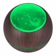 humidificador de aroma de aire ultrasonico? difusor de aromaterapia con luz LED de sombra para dormitorio de casa de oficina - madera oscura (enchufe de Reino Unido)