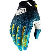 100% Ridefit Cyan/Black Handschoenen -S