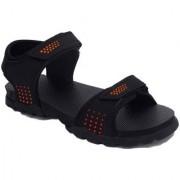 Feet Culture Men's Black Nubuck Leather Sandals
