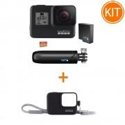 Kit GoPro Hero 7 Black Bundle + GoPro - Sleeve + Lanyard