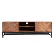 Miliboo TV-Möbel aus Akazienholz und schwarzem Metall STICK