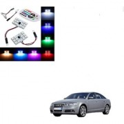 Auto Addict Car 12 LED RGB Roof Light with IR Remote Car Fancy Lights For Audi A6