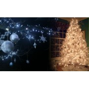100 led vánoční osvětlení řetěz lampičky barvy